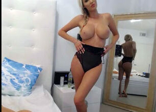 Hot blonde tits